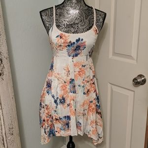 O'Neill coral and blue floral mini dress